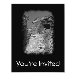 """Old building. Stone Walls with Window. 4.25"""" X 5.5"""" Invitation Card"""
