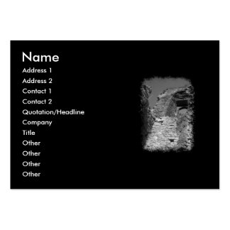 Old building. Stone Walls with Window. Large Business Card