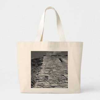 Old building. Tall Stone Wall. Tote Bag