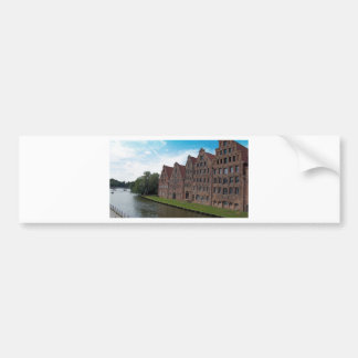 old buildings from luebeck bumper sticker