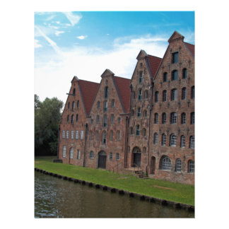 old buildings from luebeck custom letterhead
