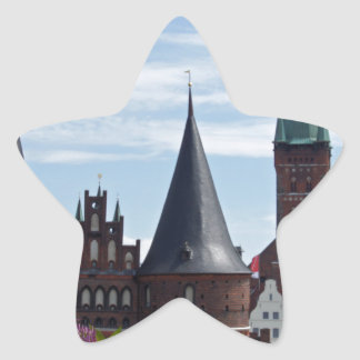 old buildings from luebeck star sticker