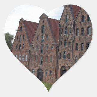 old buildings heart sticker