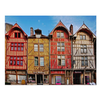 Old Buildings in Troyes France Postcard
