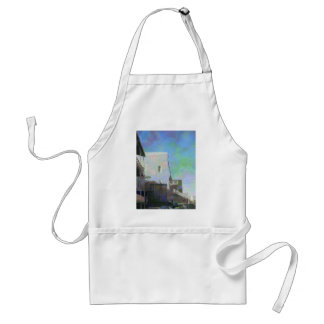 Old Buildings & Sky Adult Apron