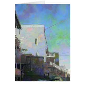 Old Buildings & Sky Greeting Card