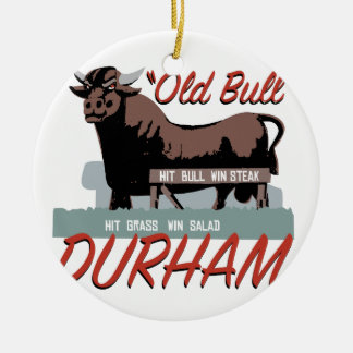 Old Bull Durham Ceramic Ornament