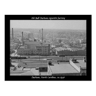 Old Bull Durham cigarette factory Postcard
