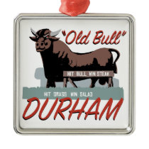 Old Bull Durham Metal Ornament