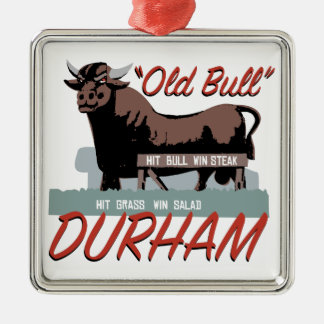 Old Bull Durham Metal Ornament