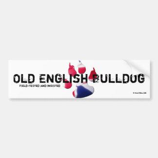 Old Bulldog Inglesa bordadora Pegatina Para Auto