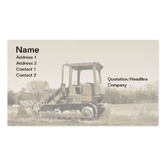 old bulldozer Double-Sided standard business cards (Pack of 100)