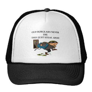 old burglars never die mesh hat