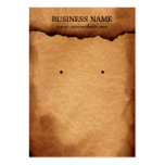 Old Burned Paper Earring & Jewelry Display Cards Business Cards