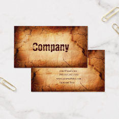 Old Burnt Papyrus Business Cards at Zazzle