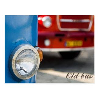 Old buses postcard