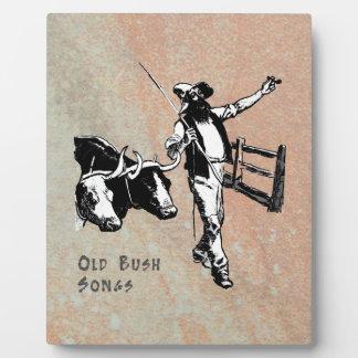 Old Bush Songs Plaque