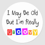 Old But Really Groovy Round Stickers