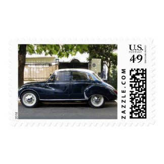 Old but very well kept Audi car. Postage Stamp
