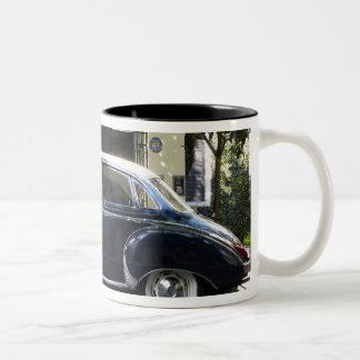 Old but very well kept Audi car. Two-Tone Coffee Mug