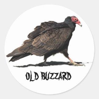 OLD BUZZARD CLASSIC ROUND STICKER