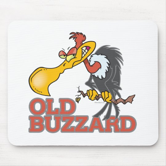 old buzzard funny cartoon character mouse pad