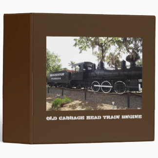 Old Cabbage Head Train Engine Bradenton Florida Binder