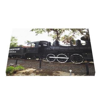 Old Cabbage Head Train Engine Bradenton Florida Canvas Print
