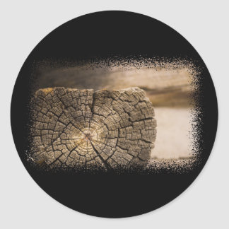 Old Cabin Textures Classic Round Sticker