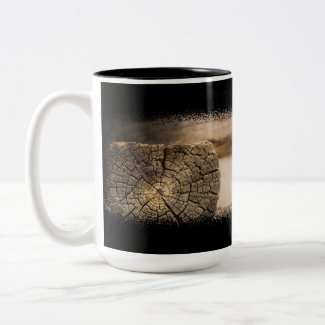 Old Cabin Textures Coffee Mug