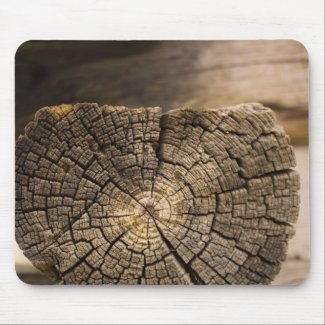Old Cabin Textures Mouse Pad