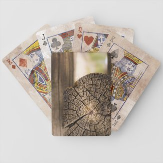 Old Cabin Wood Textures Bicycle Card Deck