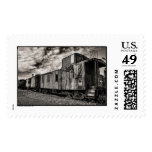 Old Caboose HDR BW Postage Stamps