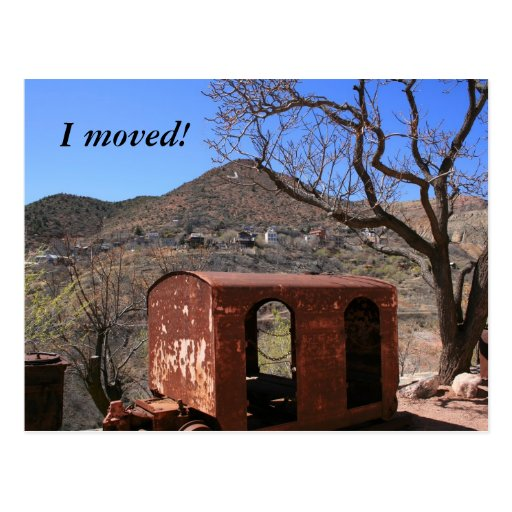 Old Caboose in the Wild West Postcard