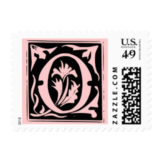 Old Calligraphy Letter O Postage Stamp