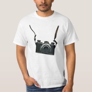 Old camera and straps shirt
