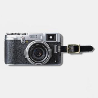 old camera bag tag