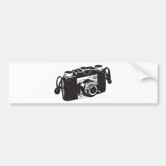 Old camera car bumper sticker