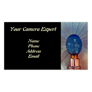 Old Camera Flash with Flashbulb Business Card
