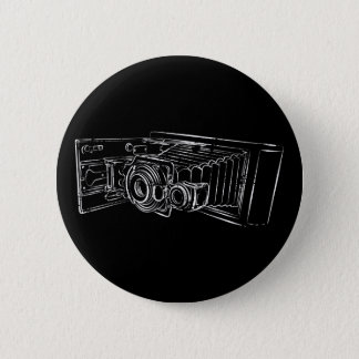 Old Camera in white Pinback Button