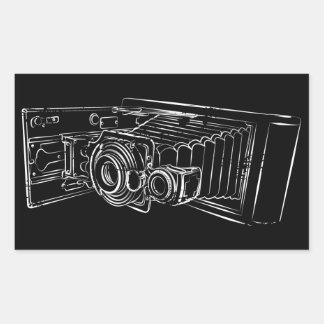 Old Camera in white Rectangular Sticker