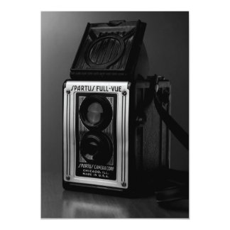Old Camera on Table Photography Collectible Card