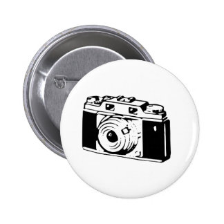 Old Camera Pinback Button