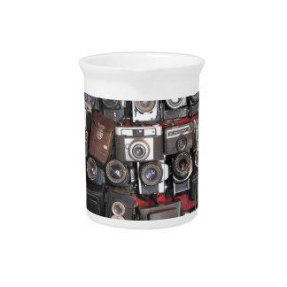 Old cameras beverage pitcher