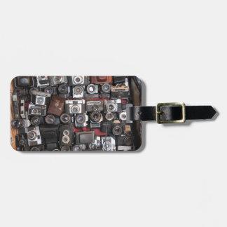 Old cameras luggage tag