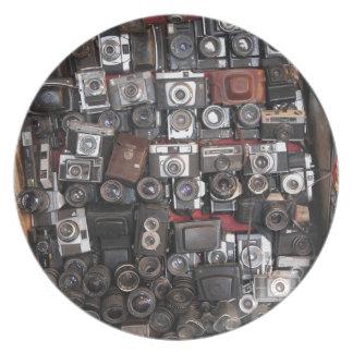 Old cameras melamine plate