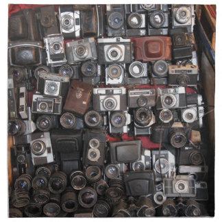 Old cameras napkin