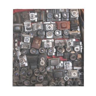 Old cameras notepad