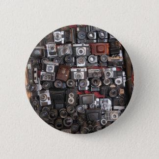 Old cameras pinback button