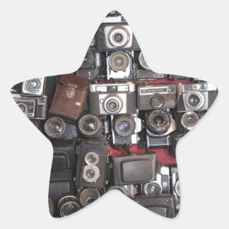 Old cameras star sticker